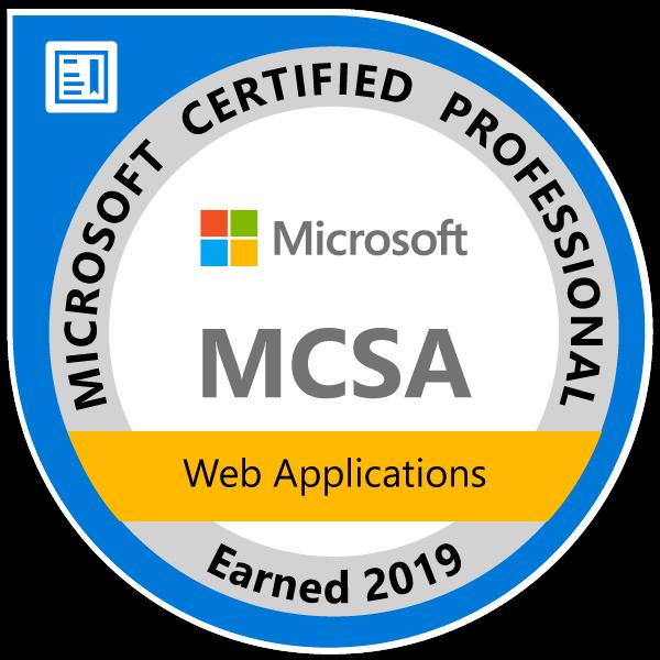 MCSA-Web-Applications-2019