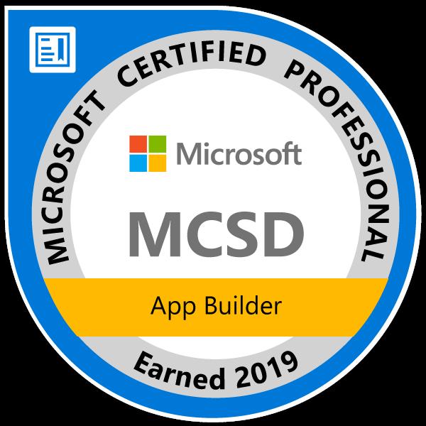MCSD-App-Builder-2019